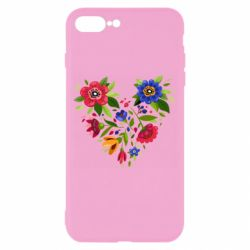 Чехол для iPhone 8 Plus Heart made of flowers vector