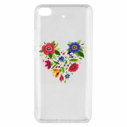 Чехол для Xiaomi Mi 5s Heart made of flowers vector