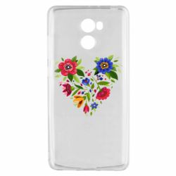 Чехол для Xiaomi Redmi 4 Heart made of flowers vector
