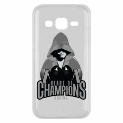 Чехол для Samsung J2 2015 Heart of Champions