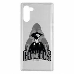 Чехол для Samsung Note 10 Heart of Champions