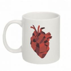 Кружка 320ml Heart Poly Art