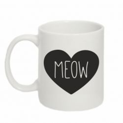Кружка 320ml Heart and meow