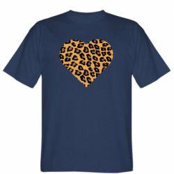 Мужская футболка Heart with leopard hair