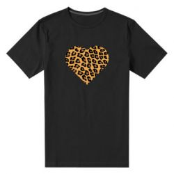 Мужская стрейчевая футболка Heart with leopard hair