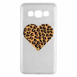 Чехол для Samsung A3 2015 Heart with leopard hair