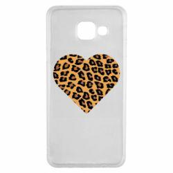 Чехол для Samsung A3 2016 Heart with leopard hair