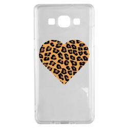 Чехол для Samsung A5 2015 Heart with leopard hair