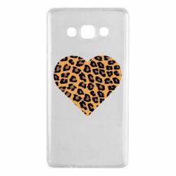 Чехол для Samsung A7 2015 Heart with leopard hair