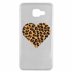 Чехол для Samsung A7 2016 Heart with leopard hair