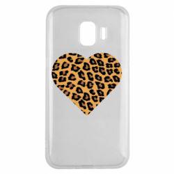 Чехол для Samsung J2 2018 Heart with leopard hair