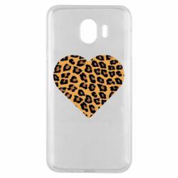 Чехол для Samsung J4 Heart with leopard hair
