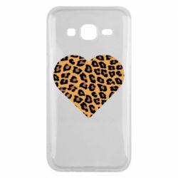 Чехол для Samsung J5 2015 Heart with leopard hair