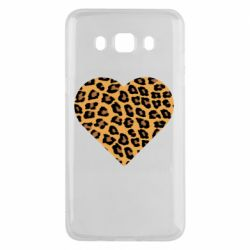 Чехол для Samsung J5 2016 Heart with leopard hair