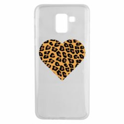 Чехол для Samsung J6 Heart with leopard hair