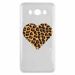 Чехол для Samsung J7 2016 Heart with leopard hair