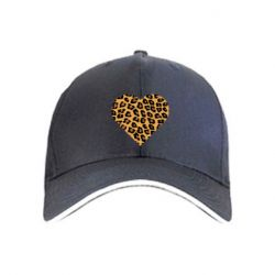 Кепка Heart with leopard hair