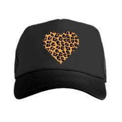 Кепка-тракер Heart with leopard hair