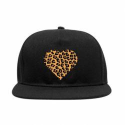 Снепбек Heart with leopard hair