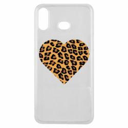 Чехол для Samsung A6s Heart with leopard hair