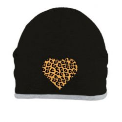 Шапка Heart with leopard hair
