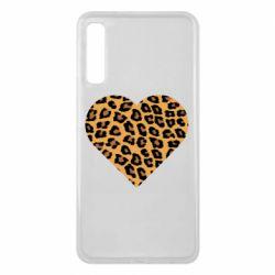 Чехол для Samsung A7 2018 Heart with leopard hair
