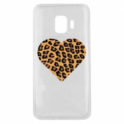 Чехол для Samsung J2 Core Heart with leopard hair