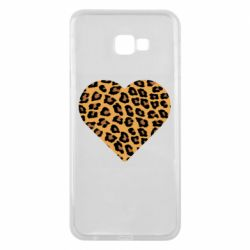 Чехол для Samsung J4 Plus 2018 Heart with leopard hair