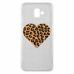 Чехол для Samsung J6 Plus 2018 Heart with leopard hair