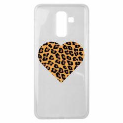 Чехол для Samsung J8 2018 Heart with leopard hair