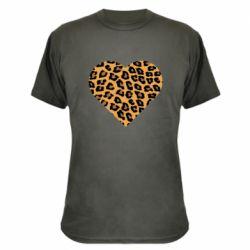 Камуфляжная футболка Heart with leopard hair