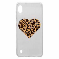 Чехол для Samsung A10 Heart with leopard hair