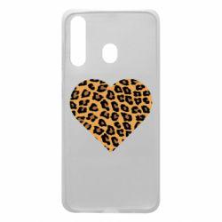 Чехол для Samsung A60 Heart with leopard hair