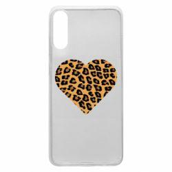Чехол для Samsung A70 Heart with leopard hair