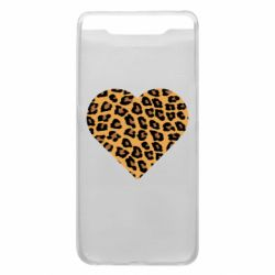 Чехол для Samsung A80 Heart with leopard hair