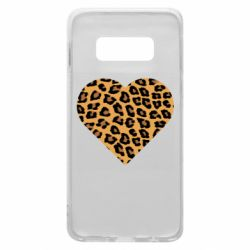 Чехол для Samsung S10e Heart with leopard hair