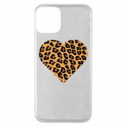 Чехол для iPhone 11 Heart with leopard hair