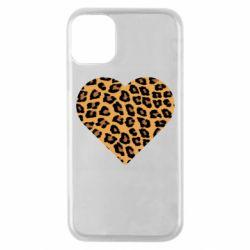 Чехол для iPhone 11 Pro Heart with leopard hair