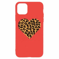 Чехол для iPhone 11 Pro Max Heart with leopard hair