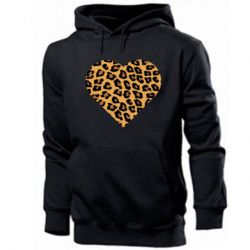 Мужская толстовка Heart with leopard hair