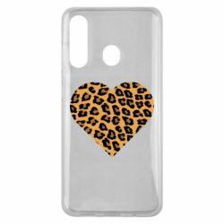 Чехол для Samsung M40 Heart with leopard hair
