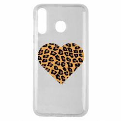 Чехол для Samsung M30 Heart with leopard hair