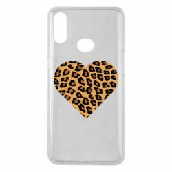 Чехол для Samsung A10s Heart with leopard hair