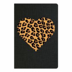 Блокнот А5 Heart with leopard hair