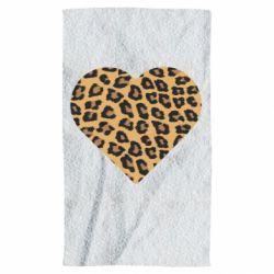 Полотенце Heart with leopard hair
