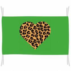 Флаг Heart with leopard hair