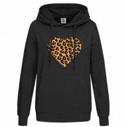 Женская толстовка Heart with leopard hair
