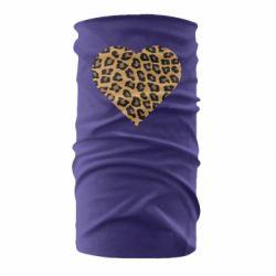 Бандана-труба Heart with leopard hair