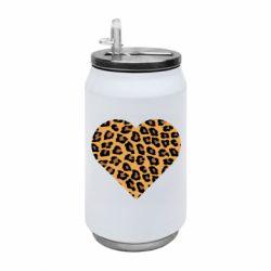 Термобанка 350ml Heart with leopard hair