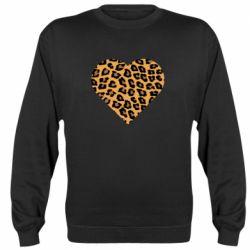 Реглан (свитшот) Heart with leopard hair